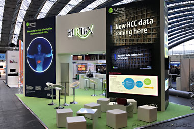 Messestand Sirtex